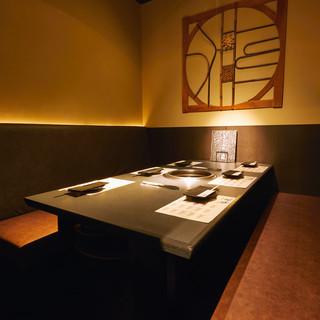 会食や接待で好評◎最大24名様までご宴会可能な個室のお席◎