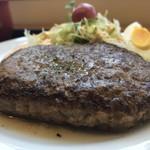 スプーン チャーム - 肉厚なハンバーグ