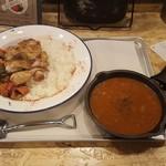野菜を食べるBBQカレーcamp - キーマ&BBQチキン