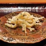 豪龍久保 - 白魚の天ぷら