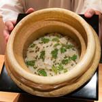 豪龍久保 - 筍と山椒の炊き込みご飯