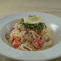 ジェノヴァ - 魚介のエスニック風冷製パスタ イタリアンなのにナンプラーをベースに!!これが合うんです