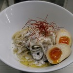 ふく流ラパス 分家 ワダチ - 【(限定) チーズソースラパス 味玉付】¥1000