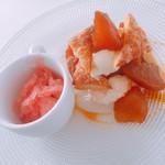 リストランテ 鎌倉フェリーチェ - デザート 焼きリンゴミルフイユ仕立て