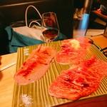 焼肉ホルモンブンゴ - 肉寿司あぶり