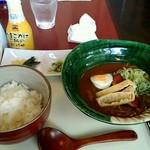 84545243 - ミニカレー蕎麦と卵かけご飯