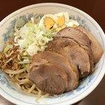 らーめん 陸 - 【2018.4.13】まぜそば¥880+豚増し¥200