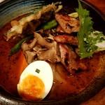 84548800 - 厚切り豚ロースの西京味噌焼きと春野菜のスープカレー