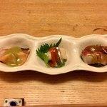しらと菜園 - 魚達の集い皿 勝手に名前つけてすいません