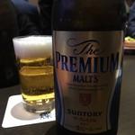 84549631 - サントリーの店らしく、ビールはプレモルです( ̄▽ ̄)
