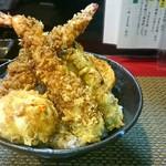 84549674 - 大海老天丼+トッピングの半熟卵