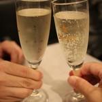 熟成肉バル イチノミヤウッシーナ - 乾杯