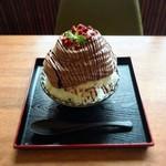 丹波立杭 YAMATO cafe - 料理写真:ショコラエスプーマカキ氷
