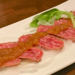 Roppakuyakado - 黒毛和牛の炙りカルパッチョ