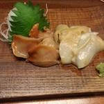 胡蝶 - お刺身(赤貝、ホッキ)