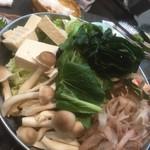 居酒屋 まる和 - 180410火 東京 居酒屋まる和 鶏のちゃんこ鍋