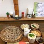 美山窯 - 料理写真:もりそば ¥700   ご飯セット ¥300