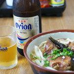 8456390 - ソーキそば+オリオンビール