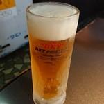 炭火焼肉ピカソ - 生ビール。