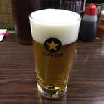 (有)旭屋酒店 - とり生ビール 400円