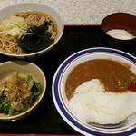 名代 富士そば - 朝カレーセット390円