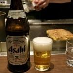 ぼてやん多奈加 - 「ビール中瓶」(550円)