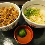 Nakau - 和風牛丼ミニとすだちおろし小うどん