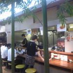麺処 井の庄 - 店内カウンター