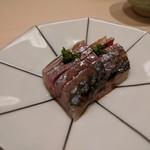 鮨みやもと - アジ 東京湾 脂がありました