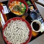 地産地消 とみき - 日替わり丼蕎麦セット 1100円