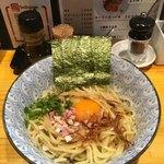 麺屋 清 - 料理写真:釜玉そばの中盛('18/04/22)