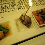 山葵 - 料理写真:お通し3種♪