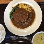 三珍 富士力食堂 - ネージャンさんの  大玉ハンバーグセット