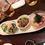 嬉々 わらまさ - おまかせ前菜4種盛り(450円)