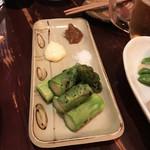 嬉々 わらまさ - 福岡太アスパラ炙り(380円)