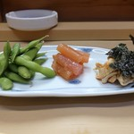 家庭料理 小川 - アテ盛り合せ