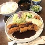 とんかつオゼキ本店 - エビフライ定食 1800円