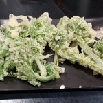 もっこすprimo - こごみ天ぷら