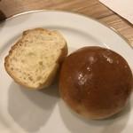 洋食 もりい - ハンバーグ焼きランチのパン