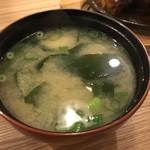 洋食 もりい - ハンバーグ焼きランチの味噌汁