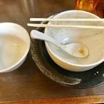 つけ麺 弥七  - 完食(汚なくてすいません)【その他】
