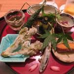 日本料理 太月 - 30年4月 前菜盛合せ