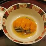 日本料理 太月 - 30年4月 三陸鮑柔らか煮、雲丹