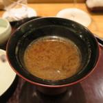 日本料理 太月 - 30年4月 蓬麩味噌汁