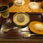 日本料理 太月 - 30年4月 抹茶プリン、葛饅頭、桜アイス