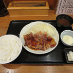 とんかつまるや - 生姜焼き定食 ※17時~限定販売 /マヨネーズ(トッピング)