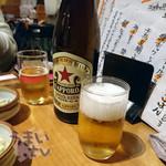 魚 きんめ - サッポロ瓶 赤星 ラガー 699円