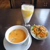 インド・アジア料理 ポカラ - 料理写真:スープ・サラダ・マンゴーラッシー_2018-04-19