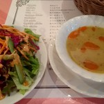 Yıldız Turkish Restaurant & Bar ユルディズ トルコレストラン - ランチサラダ・スープ