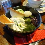 珈琲屋gufo - 抹茶パフェ(680円)